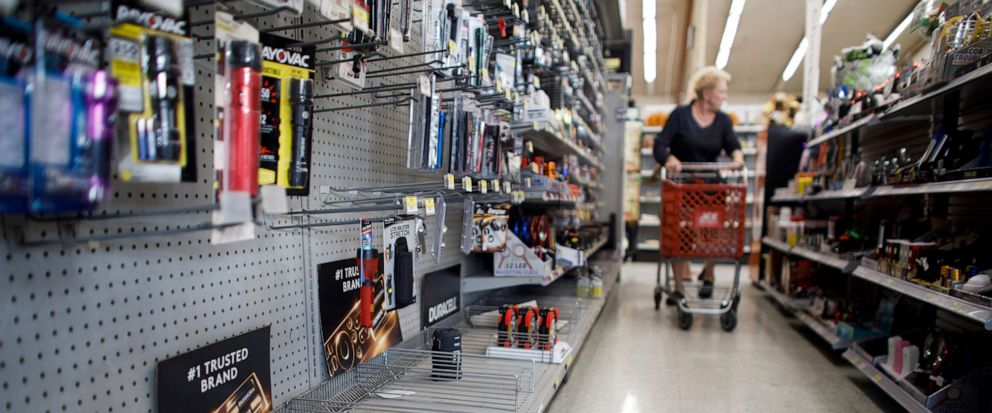 The lantern section is nearly empty at an ACE Hardware store as shoppers prepare for possible power shutoffs in Los Gatos, Calif., Tuesday, Oct. 8, 2019. Millions of people were poised to lose electricity throughout northern and central California af