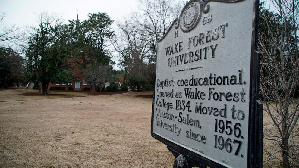 Wake Forest apologizes for slavery in university's past