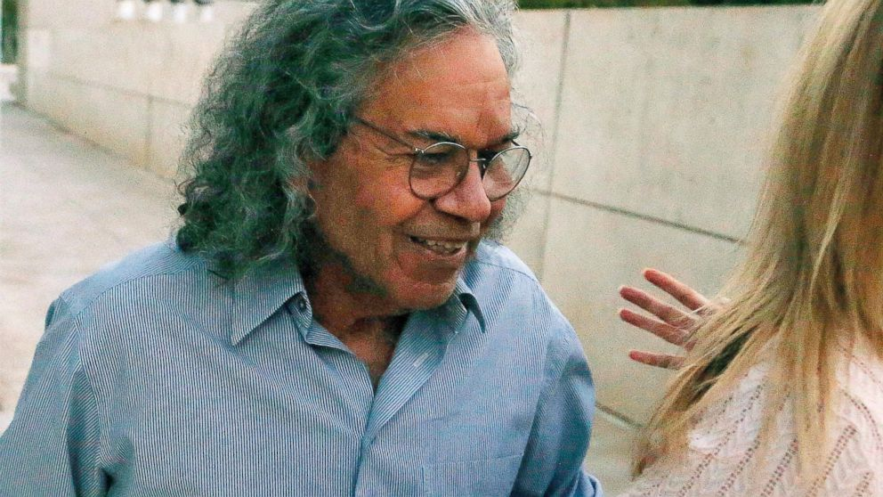 FILE - In this Oct. 26, 2017 file photo, Insys Therapeutics founder John Kapoor leaves U.S. District Court in Phoenix. Opening statements are expected in Boston's federal court Monday, Jan. 28, 2019, in the case of Kapoor and four other former employees of the Chandler, Arizona-based company. (AP Photo/Ross D. Franklin, File)
