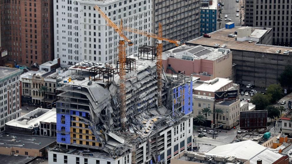 Demolition of partially collapsed New Orleans hotel delayed thumbnail