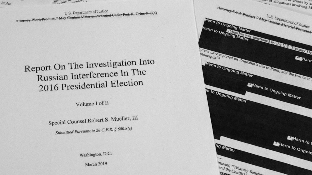 Trump opponents turn the Mueller report into an art form