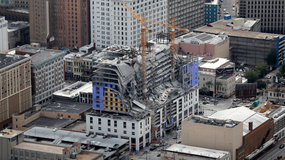 Hotel collapse in New Orleans leaves 1 dead, 2 missing