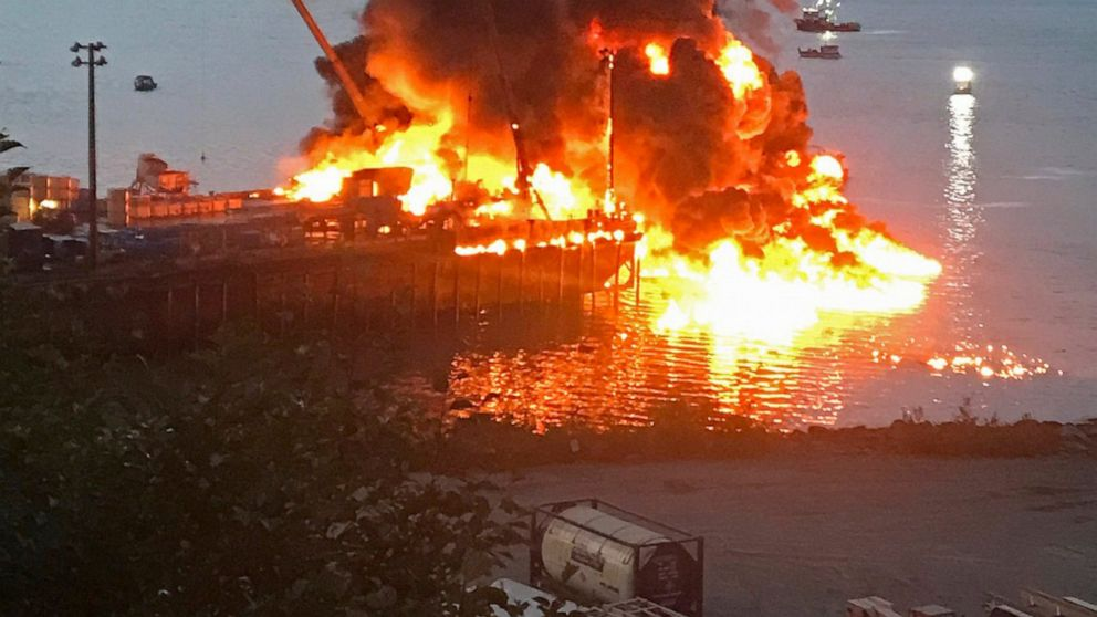 Explosion and fire sink a commercial fishing boat in Alaska