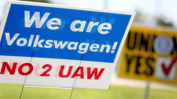 Tennessee Volkswagen plant rejects unionization