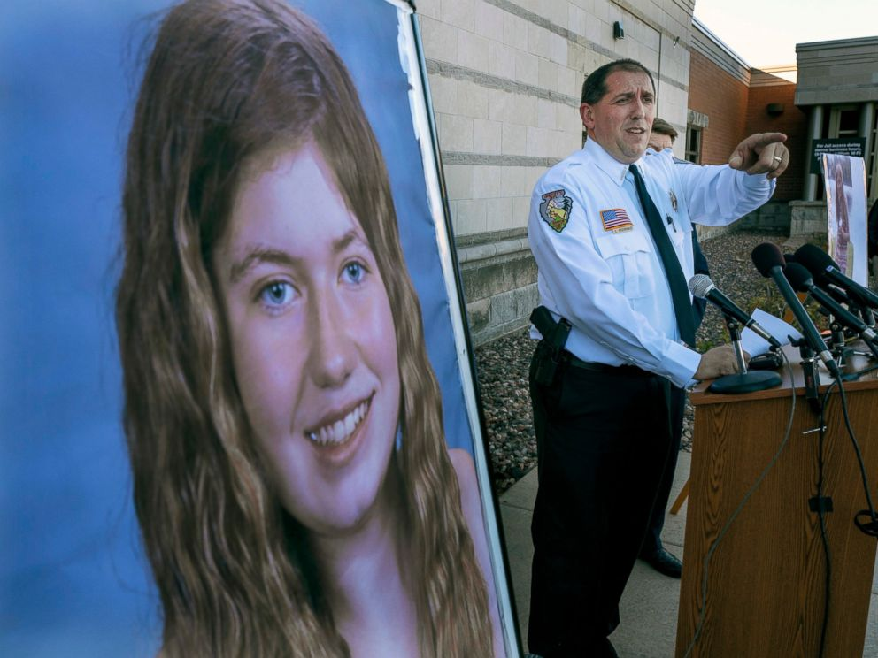 FILE - In this Oct. 17, 2018, file photo, Barron County Sheriff Chris Fitzgerald speaks during a news conference about 13-year-old Jayme Closs who has been missing since her parents were found dead in their home in Barron, Wis. Hormel Foods and Jenni
