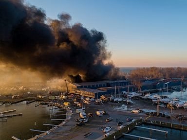 Hundreds of boats likely destroyed in Michigan marina fire