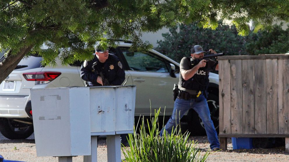 1 of 2 officers shot in California dies, gunman killed
