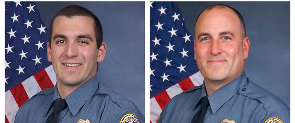 FILE - This combination of undated photos provided by the Gwinnett County Police Department shows Master Police Officer Robert McDonald, left, and Sgt. Michael Bongiovanni in their official portraits. Video from an April 2017 traffic stop in Georgia