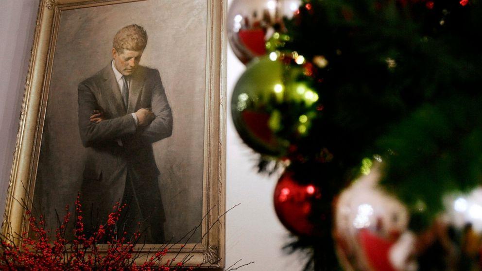 JFK Brief vielversprechend Santa sicher während des Kalten Krieges auf dem display