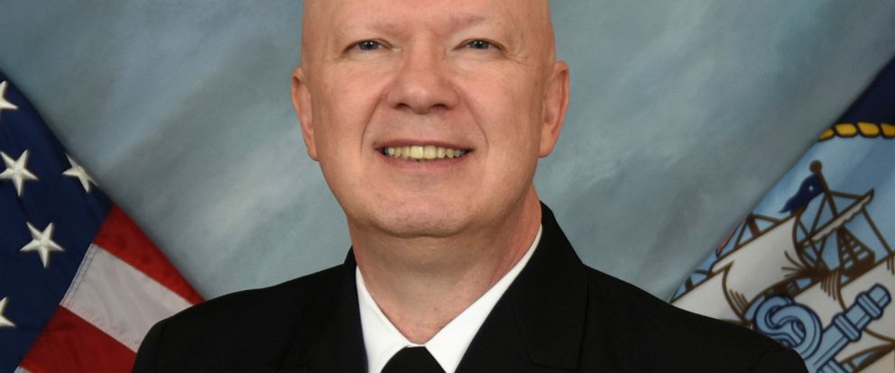 FILE - This undated file image provided by the U.S. Navy shows Rear Adm. Jeffrey Harley, president of the U.S. Naval War College in Newport, R.I. On Monday, June 10, 2019, the Navy said Harley has been reassigned pending the outcome of an inspector g