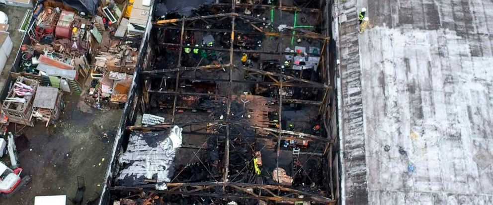 FILE - This undated file photo provided by the City of Oakland shows the burned warehouse after the deadly fire that broke out on Dec. 2, 2016, in Oakland, Calif. Derick Almena, the founder of a California communal living warehouse where a fire kille