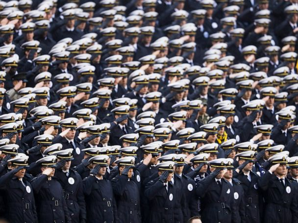 Military academies probe possible 'white power' sign at game