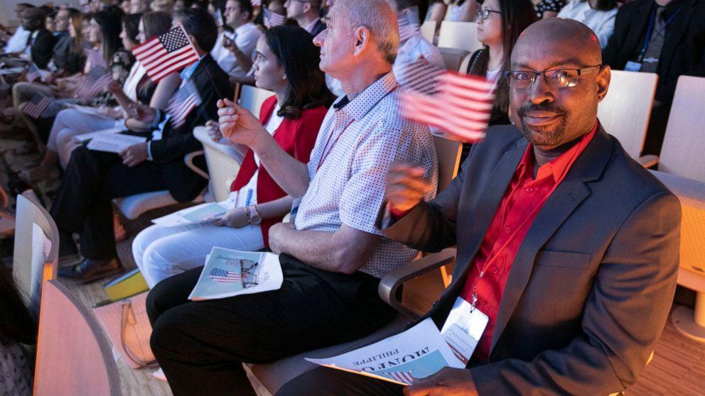New US citizens sworn in at 9/11 Memorial ceremony
