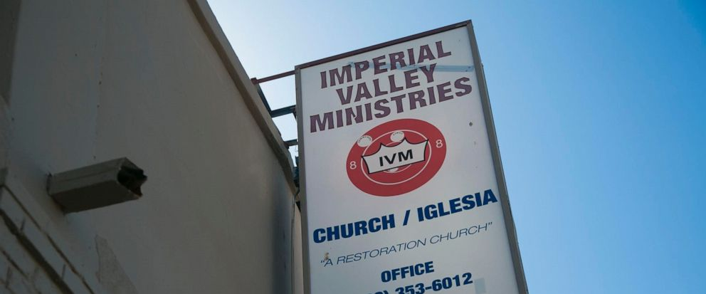 This is the headquarters of the Imperial Valley Ministries located in El Centro, Calif. It is housed in an old movie theater. U.S. Attorney Robert Brewer on Monday, September 10, 2019 announced the arrest of 12 people, leaders of the Imperial Valley