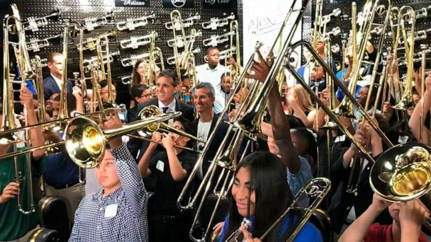 50 trombones given out to honor slain Parkland student