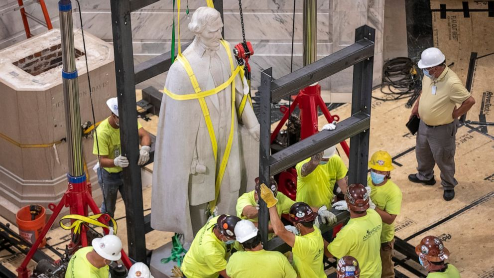 Governor has role in Davis statue's removal from Capitol thumbnail