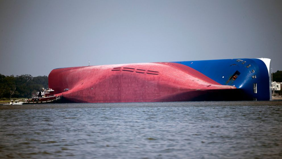 `Smooth travel' observed before ship capsized off Georgia