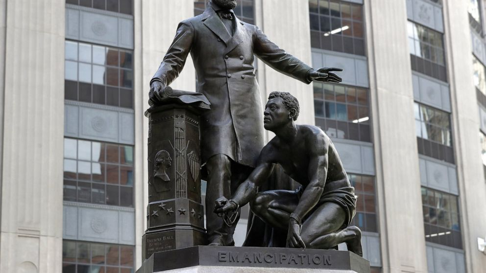 Boston to take away statue of slave kneeling earlier than Lincoln thumbnail