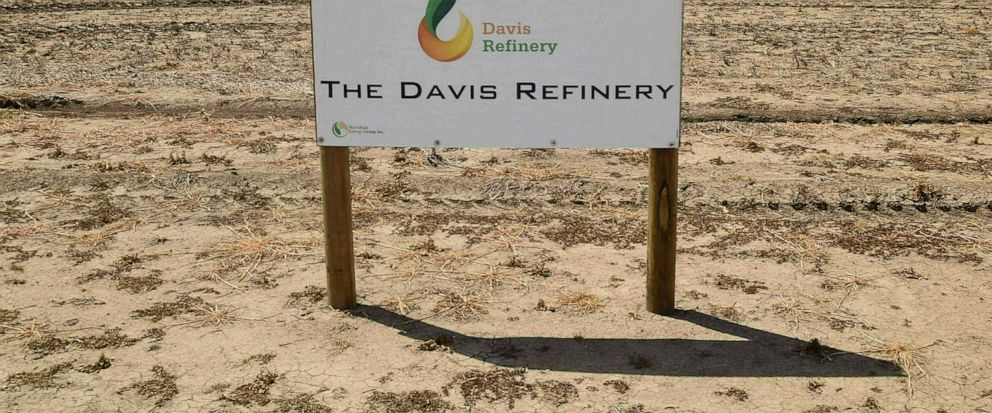 FILE - This Thursday, July 19, 2018 file photo, shows the property, southwest of Belfield, N.D, the future home of The Davis Refinery near Theodore Roosevelt National Park. A state judge has ruled that North Dakota regulators properly refrained from