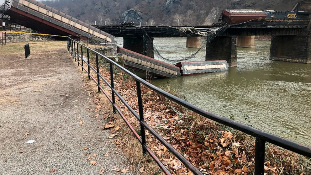 No injuries as freight train derails near Harpers Ferry park