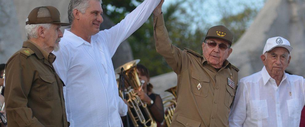 Miguel Diaz-Canel, Raul Castro, Ramiro Valdes, Jose Ramon Machado Ventura