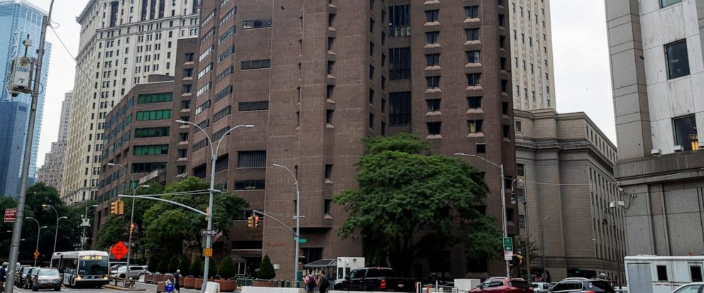 FILE - This Aug. 13, 2019, file photo, shows the Metropolitan Correctional Center in New York. Suicide is such a constant concern at federal lockups such as the Metropolitan Correctional Center's Special Housing Unit that guards keep ready access to
