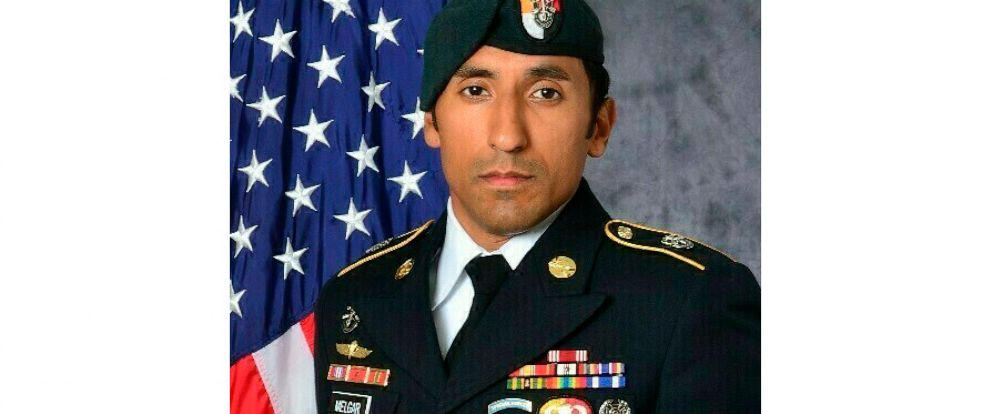 This undated photo provided by the U.S. Army shows U.S. Army Staff Sgt. Logan Melgar Green Beret, who died from non-combat related injuries in Mali in June 2017. The attorney for Navy SEAL Adam Matthews, one of four U.S. servicemen charged in the dea
