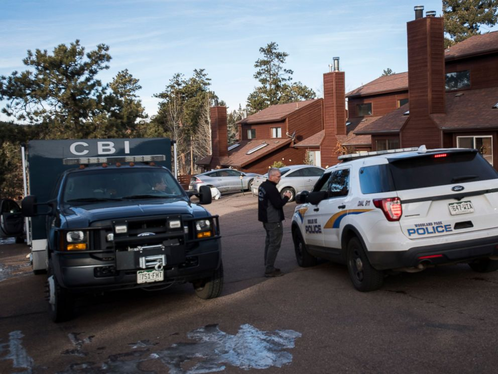 Members of the Colorado Bureau of Investigation and the Woodland Park, Colo., Police arrive Friday, Dec. 21, 2018, at the home of Kelsey Berreth, who has been missing since Thanksgiving. Police arrested her fiance Patrick Frazee earlier in the mornin