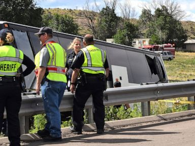 2 dead in charter bus crash in southern Colorado