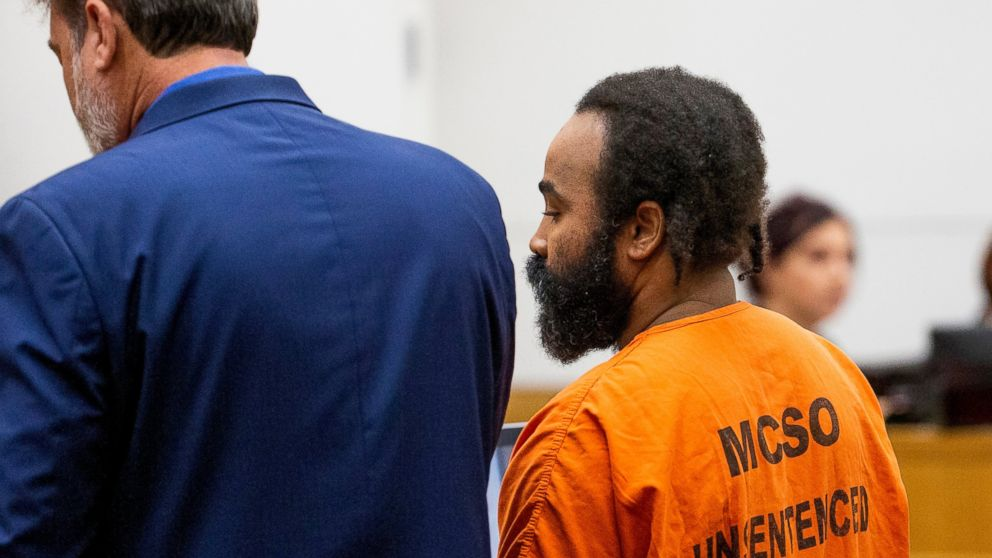 Nathan Sutherland, accused of raping and impregnating a patient at Hacienda HealthCare, is arraigned in Maricopa County Superior Court, Tuesday, Feb. 5, 2019. (Tom Tingle/The Arizona Republic via AP, Pool)