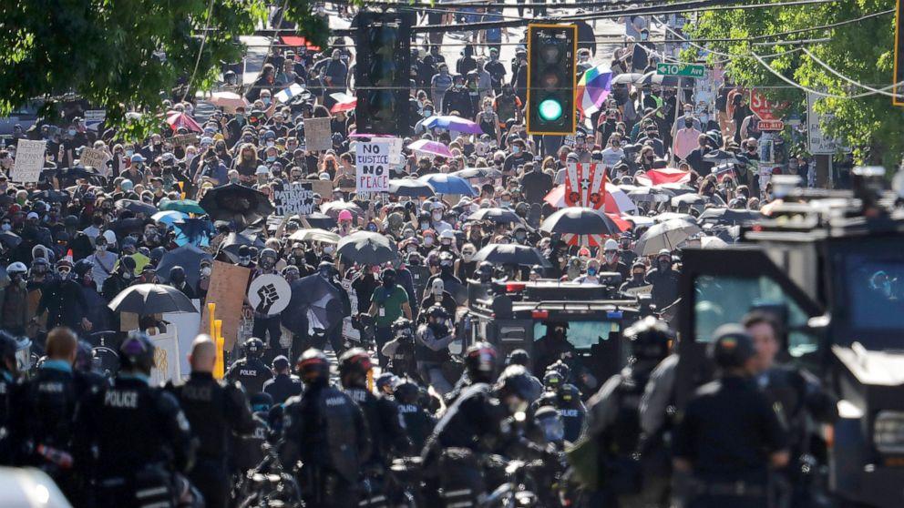 Seattle, Portland, New York sue over Trump's 'anarchy' label