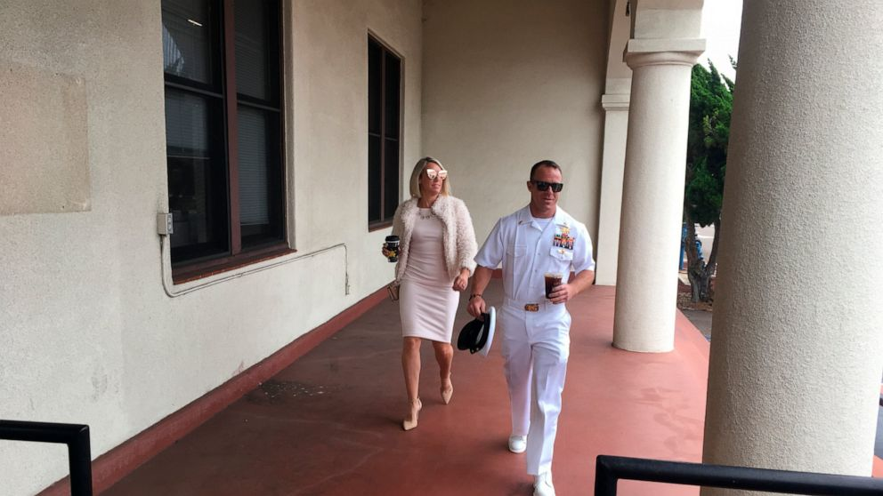 The Latest: Investigator grilled in case against Navy SEAL