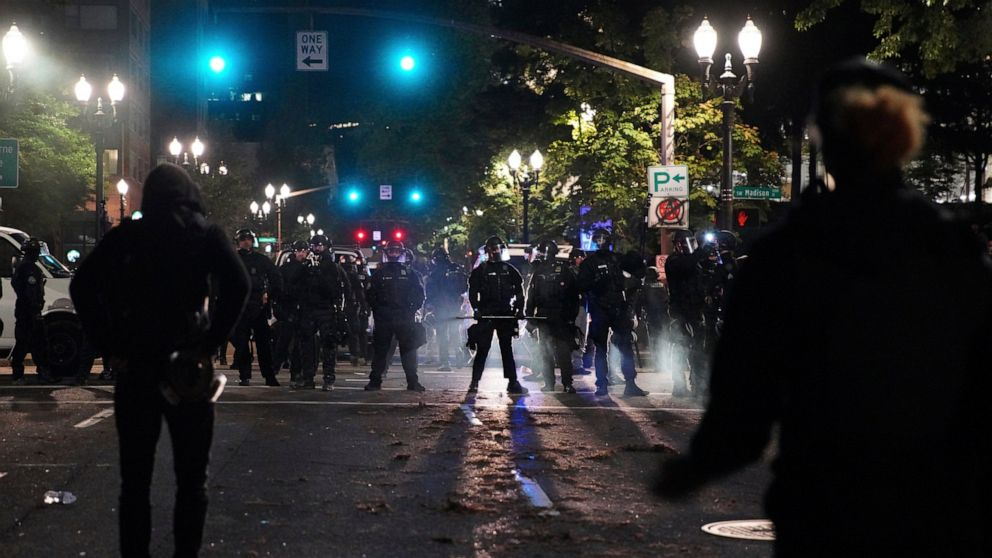Governor seeks review of police protest response in Oregon thumbnail