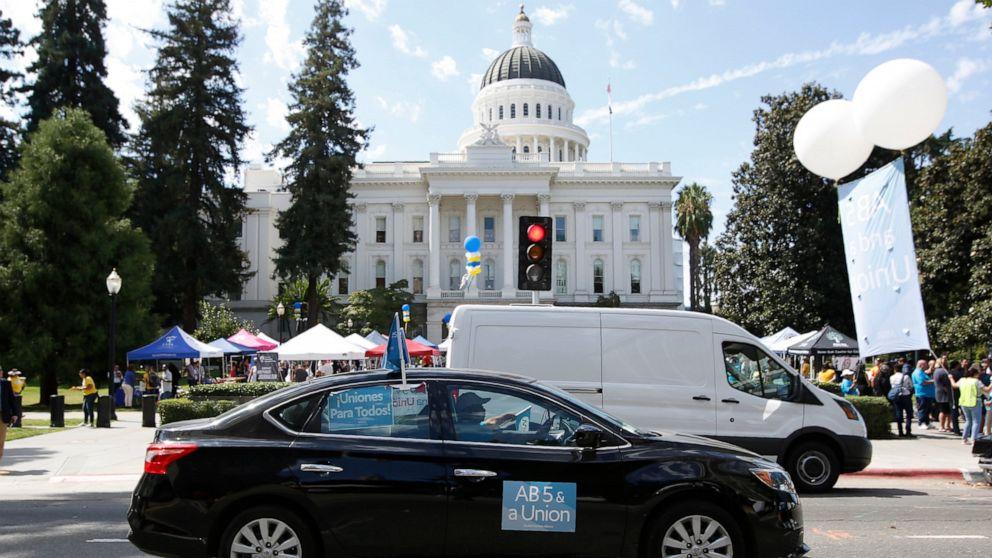 カリフォルニア上院法案を承認制gig経済