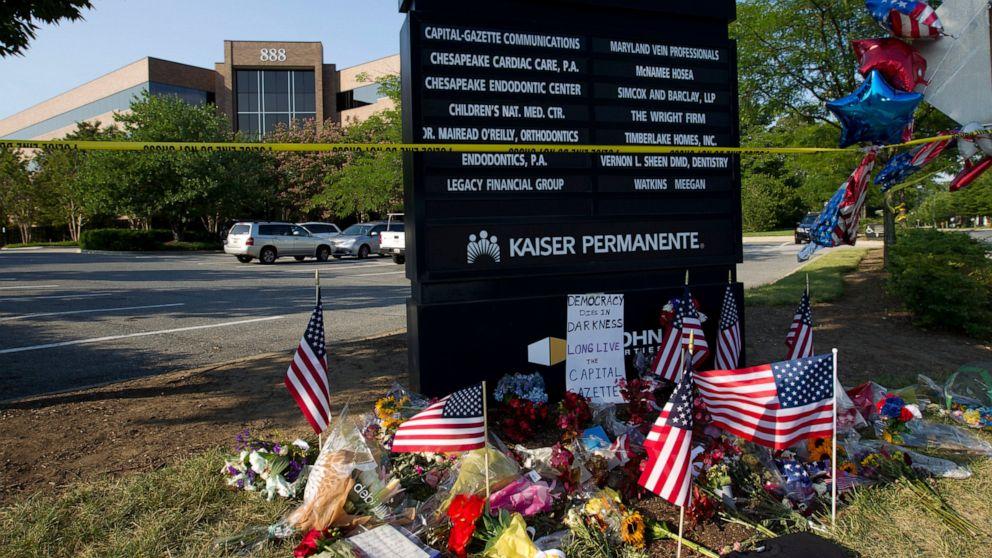 Maryland to award $300K for newspaper shooting memorial thumbnail