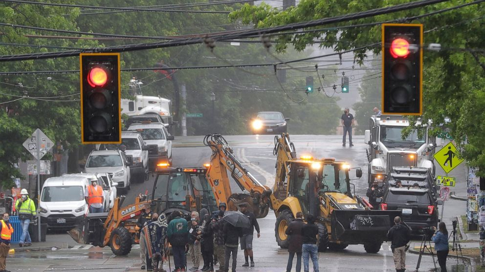 City crews take away some obstacles from Seattle protest zone thumbnail