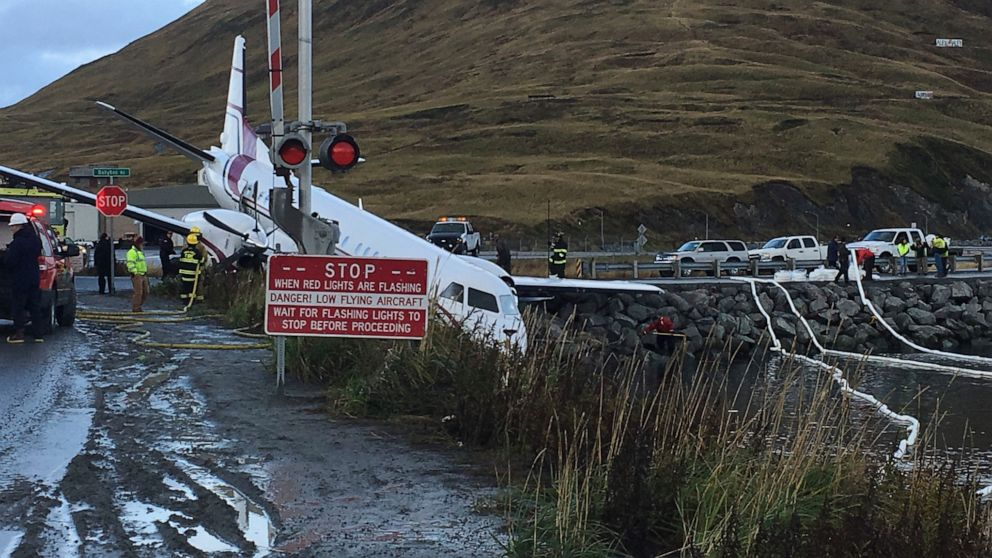 1 dead after plane landing on Alaska island went off runway