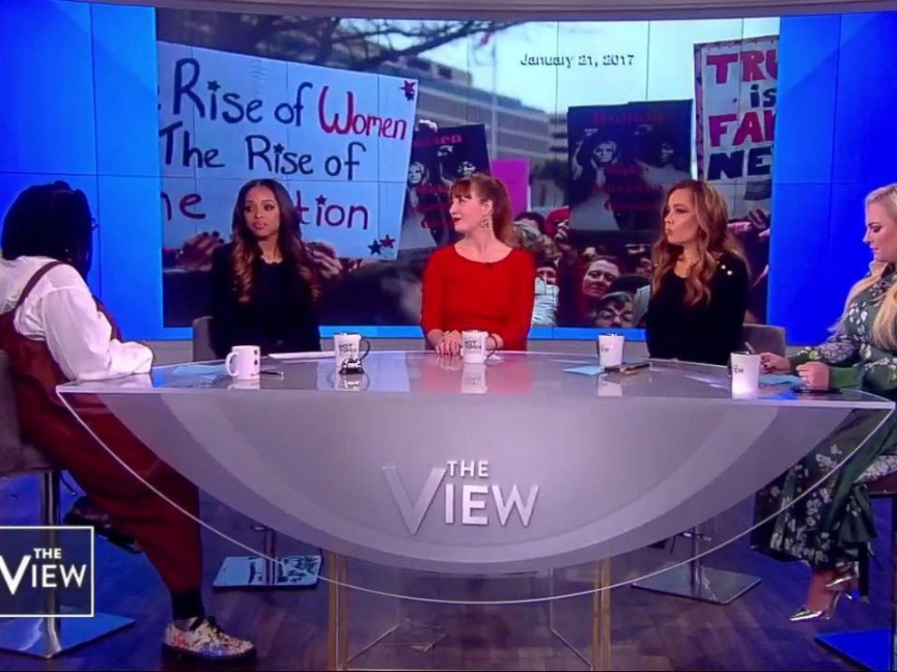 PHOTO: Womens March co-presidents Tamika Mowry and Bob Bland joined The View Monday to discuss allegations against the organization.