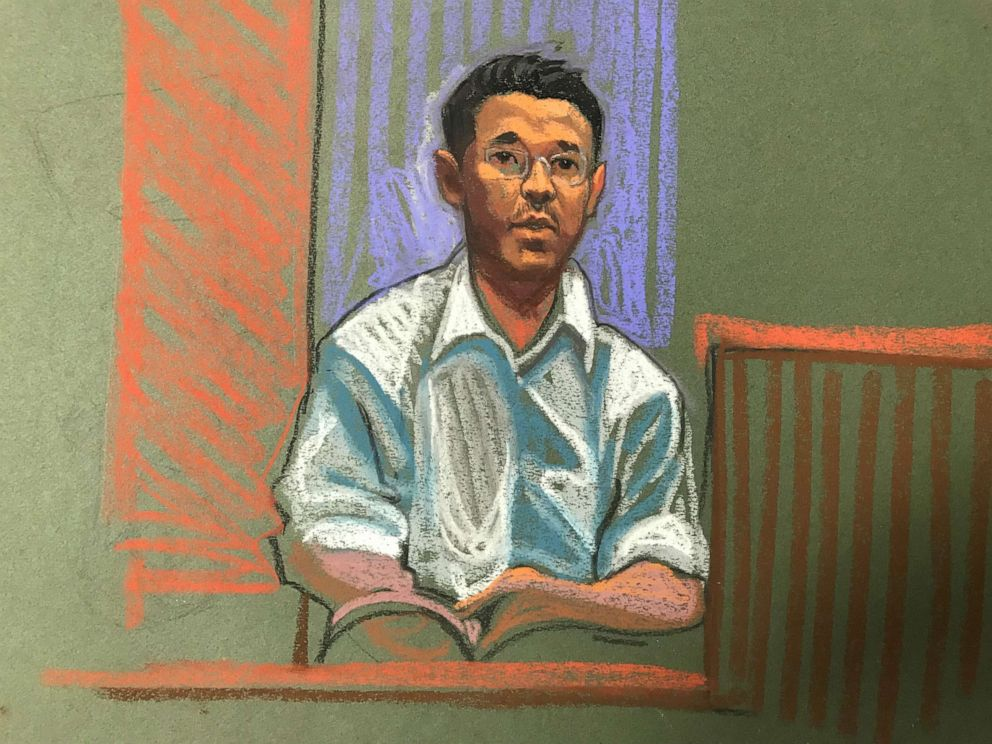 PHOTO: Yingying Zhangs boyfriend, Xiaolin Hou, was in court Wednesday to hear opening statements.