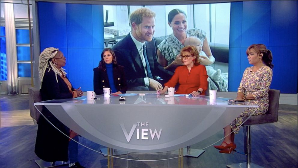 PHOTO: The View co-hosts Whoopi Goldberg, Abby Huntsman, Joy Behar, and Sunny Hostin react to Meghan Markle opening up about the stresses of motherhood on Monday, Oct. 21, 2019..