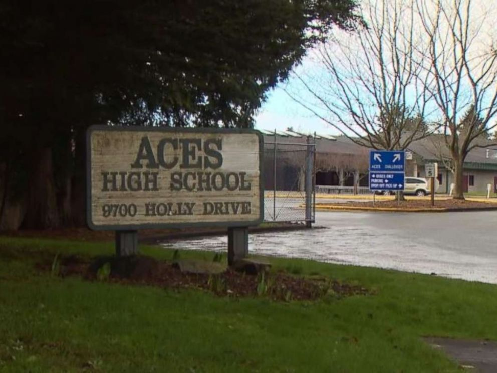 A student at ACES High School in Everett, Washington, was arrested after his grandmother called police to report he was plotting a mass shooting.