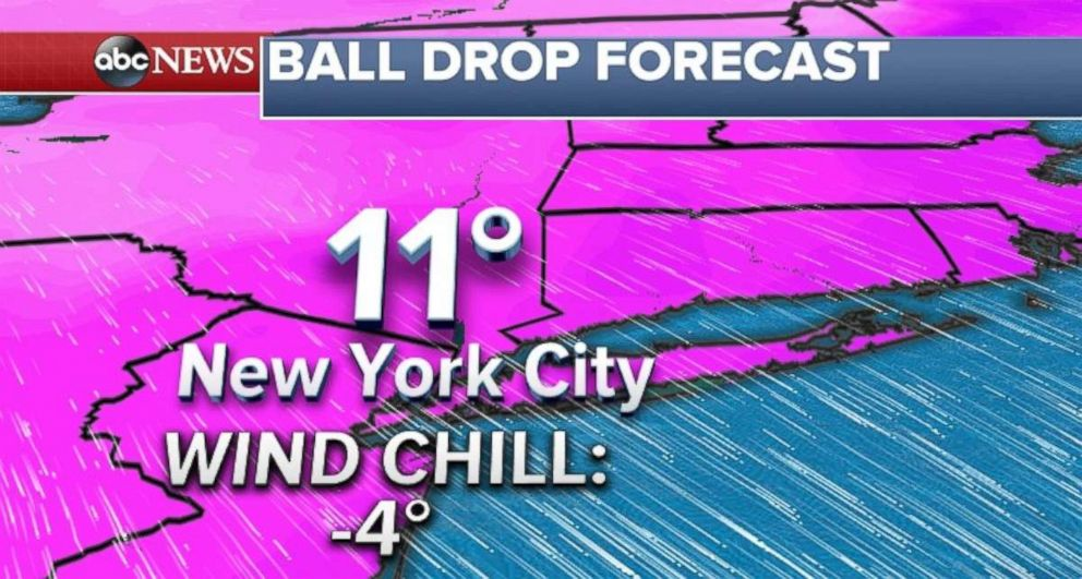 The temperature could tie for the second-lowest all-time in Times Square on New Years Eve.