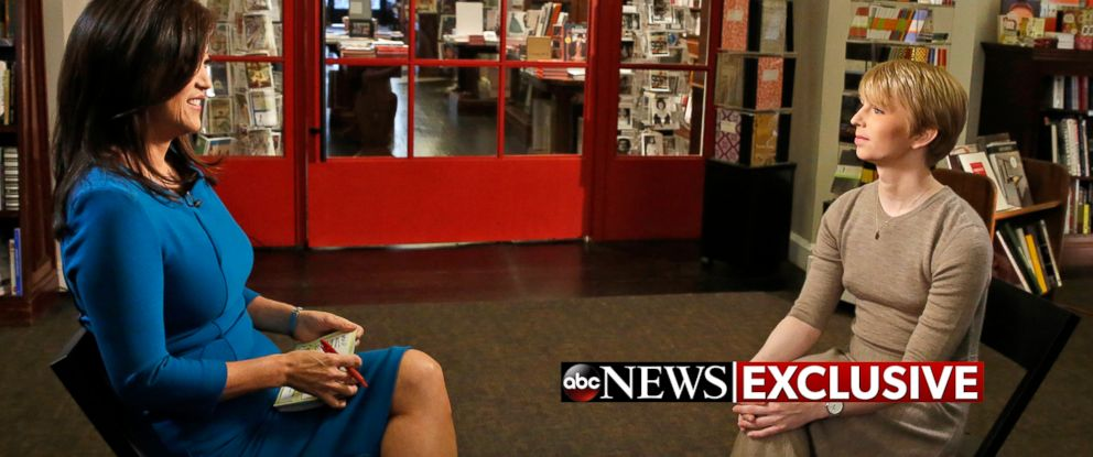 "PHOTO: Chelsea Manning sat down for an exclusive interview with ABCs Juju Chang to air in a special edition of ABC News ""Nightline."""