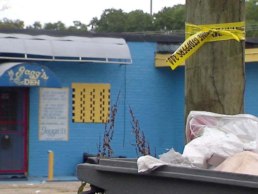 PHOTO: Crime scene tape in Baton Rouge where 18-year-old Bryant Lee was shot and killed on May 13 at a graduation party.