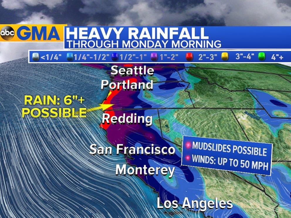Storms To Bring Heavy Rain Snow Wind To Western Us Over - Us-map-weather-forecast