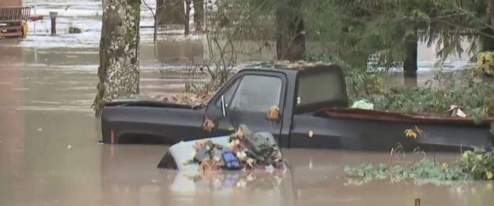 Flooding along the Skagit River in Concrete, Wash. forced evacuations on Thanksgiving Day.