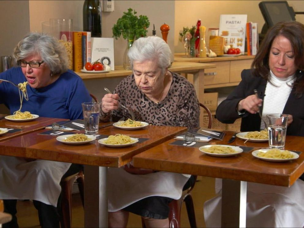 PHOTO: GMA recruited Italian grandmothers to taste test three pastas at three different price points.