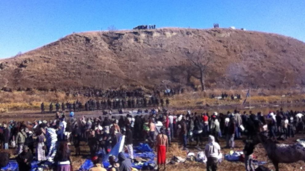 Local law enforcement and protesters pushing to block the Dakota Access pipeline clashed on Nov. 2, 2016 as tensions mount between the two groups.