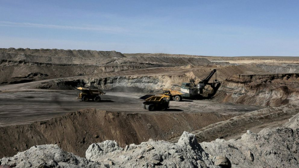 Surface or open-pit mining is the type of mining done in the Powder River Basin.