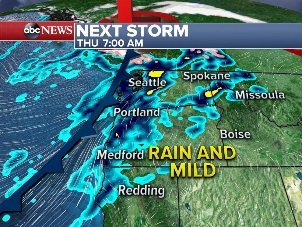 Another rain storm is moving into the Northwest on Thanksgiving morning.
